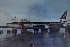El avión con la bandera del Vaticano aterriza en el Aeropuerto de Carrasco 31 de marzo