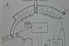Invitación entrada Misa de Tres Cruces 1 de abril 1987 (reverso)