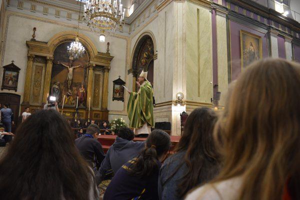 El Cardenal Sturla durante la homilía /L. Gutiérrez