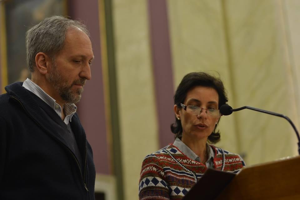 Matrimonio durante las Lecturas / Fuente: Clara Planelles - Arquidiócesis de Montevideo