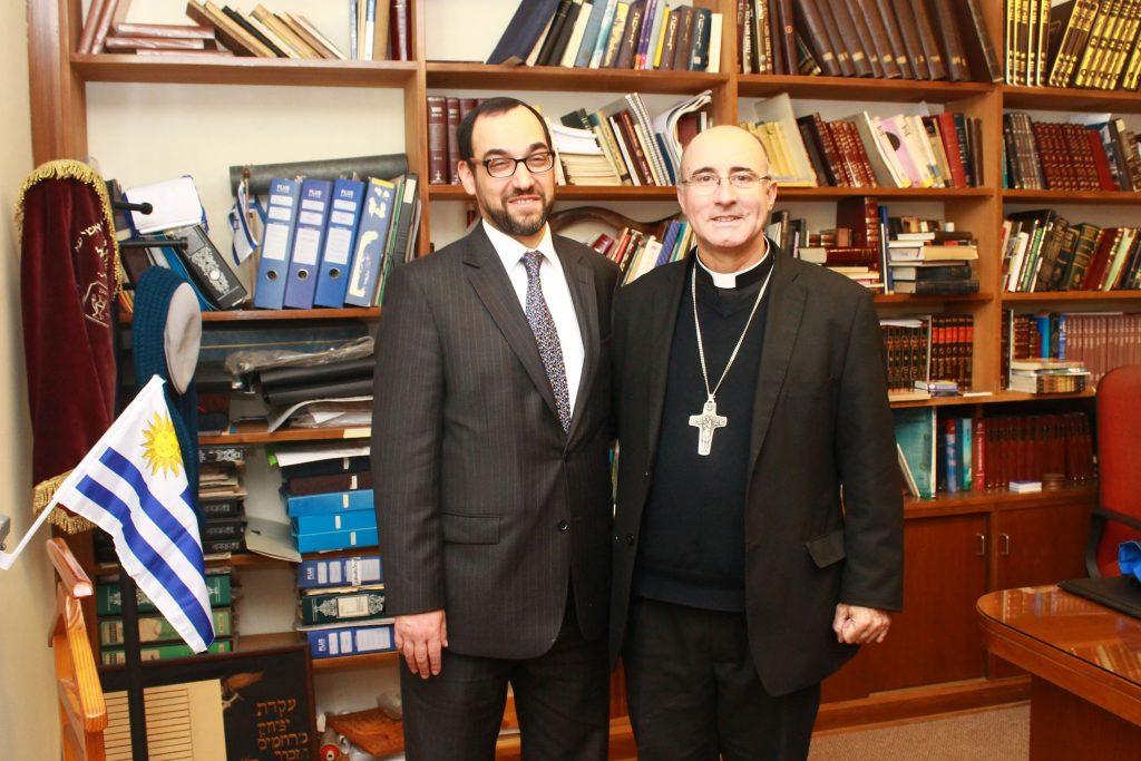 El Gran Rabino Ben-Tzion Spitz y el Cardenal Daniel Sturla /A. Jerozolimski - Semanario Hebreo