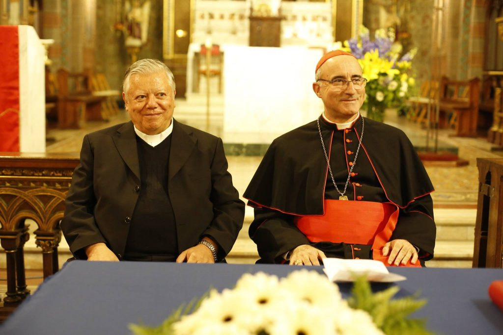 El ex Rector de la Facultad y el Cardenal Sturla / Fuente: Arquidiócesis de Montevideo
