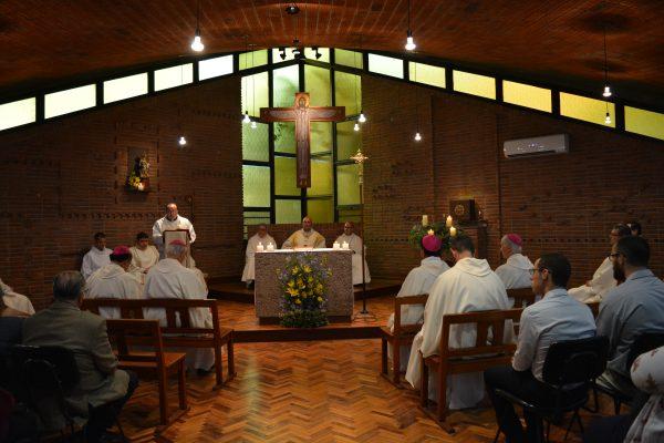 Presidieron la celebración el Card. Sturla y los obispos Collazi y Tróccoli /C. Bellocq