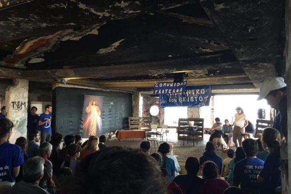 Misa en la Misión del Cerro / Fuente : Cardenal Sturla - Twitter