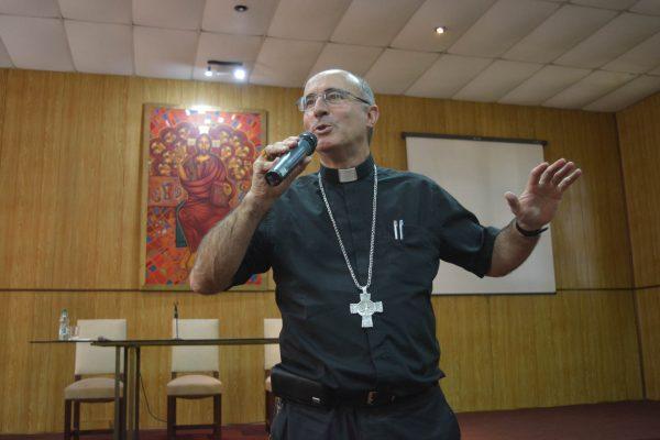 El Cardenal Daniel Sturla durante la presentación de la carta pastoral / Fuente: DECOS Montevideo
