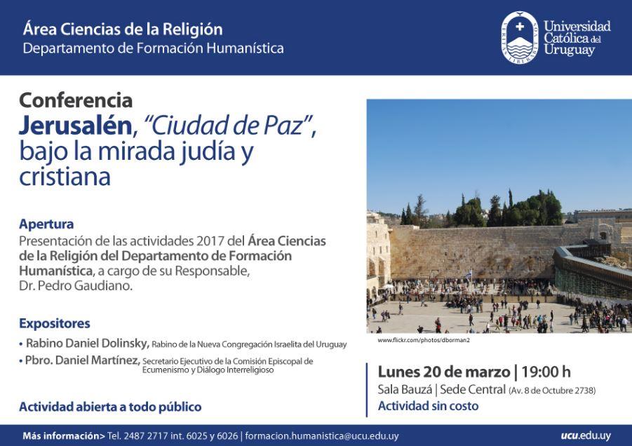 conferencia Jerusalen ciudad de paz