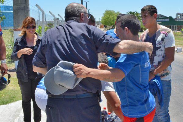 El Cardenal Sturla en una visita al centro de reclusión de Santiago Vázquez /Fuente: Decos Montevideo