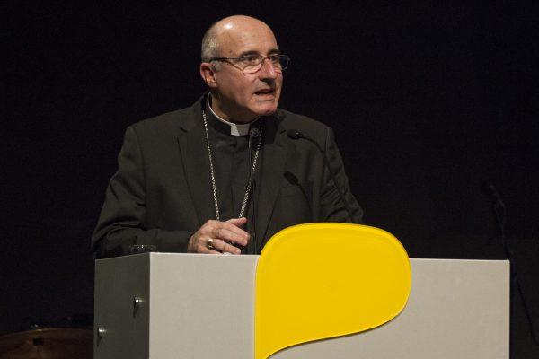 El Cardenal Sturla durante su discurso en la Fiesta  san Felipe y Santiago / Fuente: Decos Montevideo