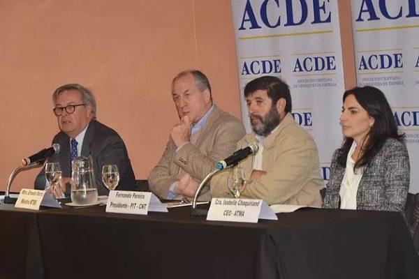 Los panelistas en la presentación del documento de ACDE / Fuente: Portal de ACDE