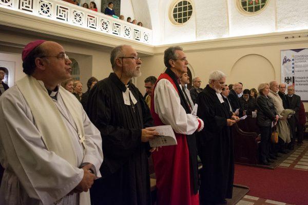 Las distintas iglesia reunidas para rezar por la unión de los cristianos / Fuente: F. Gutiérrez