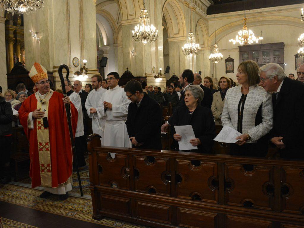En primera fila estaban Álvaro Vázquez, María Auxiliadora Delgado, María Julia Muñoz y Mario Cayota /C. Bellocq