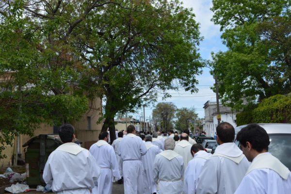 Sacerdotes durante su Jubileo / Fuente: C. Bellocq