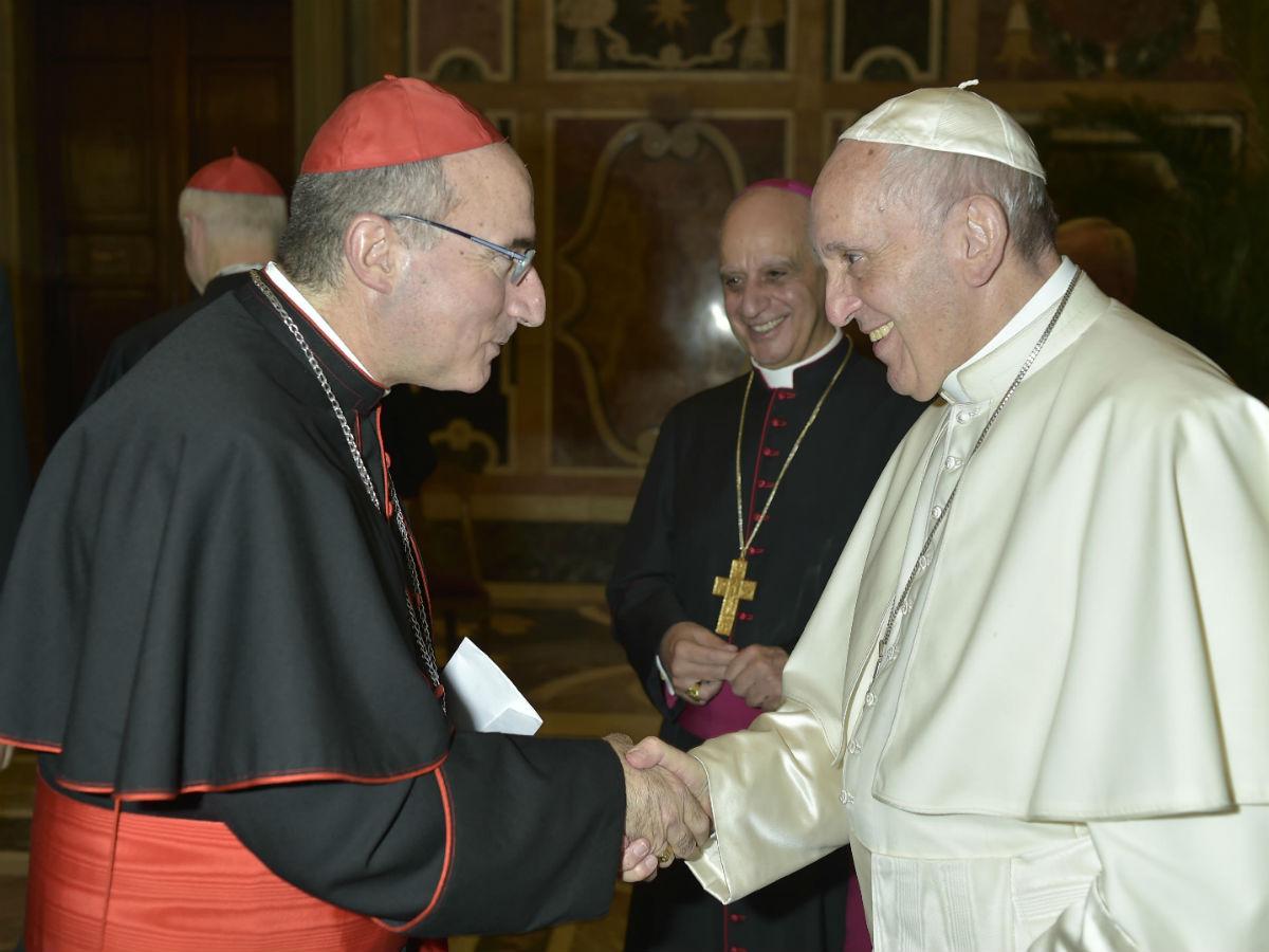 El Card. Sturla saludó al Papa Francisco / Servizio Fotografico - L'Osservatore Romano