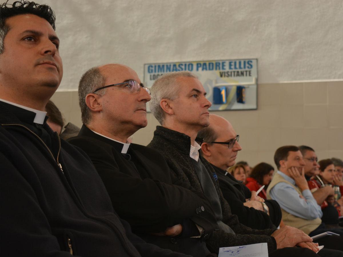 P. Marcelo Marciano, Card. Daniel Sturla, P. Daniel Kerber y Mons. Milton Tróccoli /C. Planelles