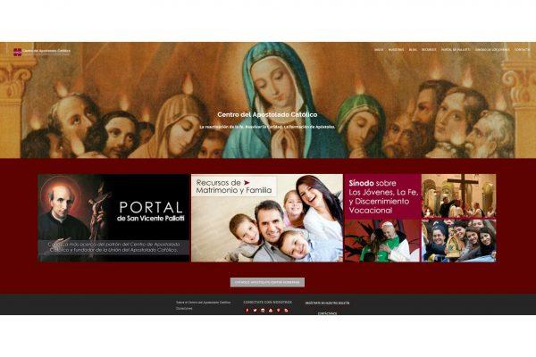 Web del Centro del Apostolado Católico / Fuente: sitio web del C.A.C