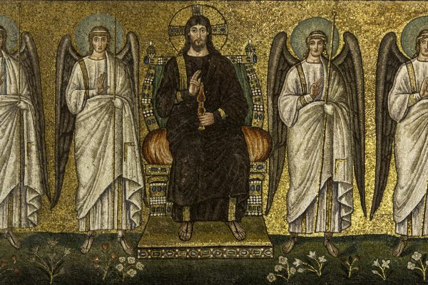 El Hijo del Hombre entronizado, en la Basílica de san Apolinar, el nuevo en Ravenna / Fuente: Flickr Lawrence op