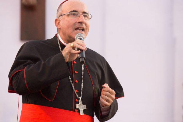 El Card. Daniel Sturla habló en el 7mo Gran Rosario de Bendiciones para las Familias /F. Gutiérrez