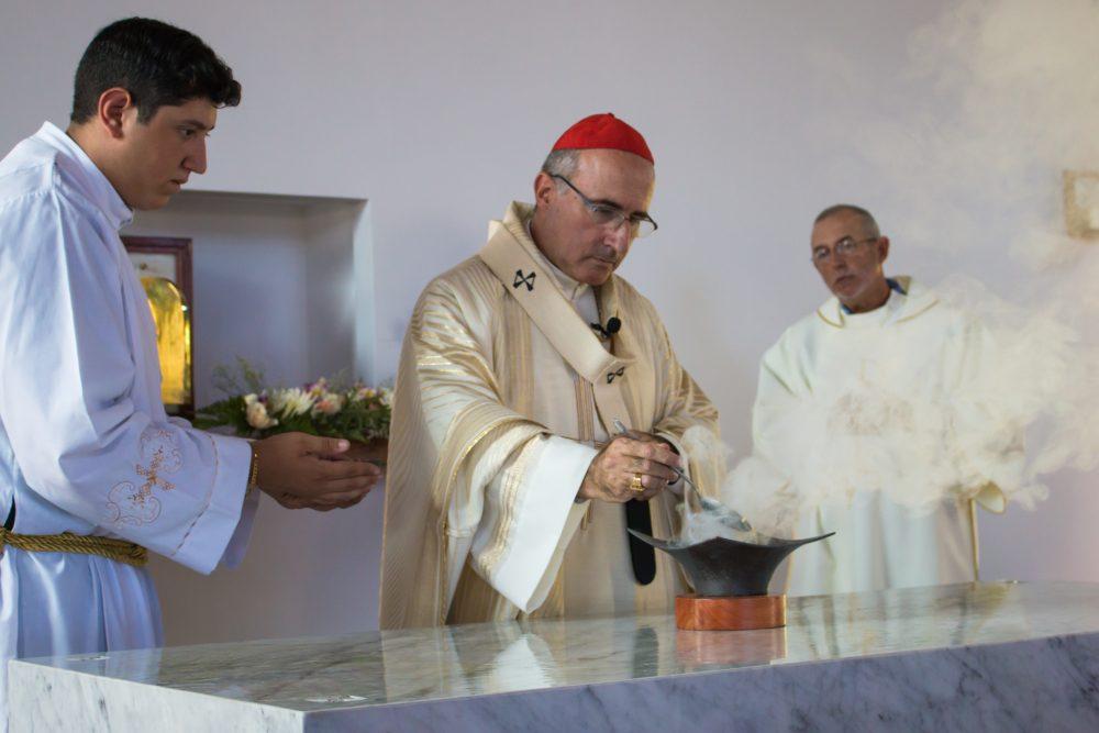 Rito durante la Dedicación/ Fuente: Parroquia María Reina de la Paz