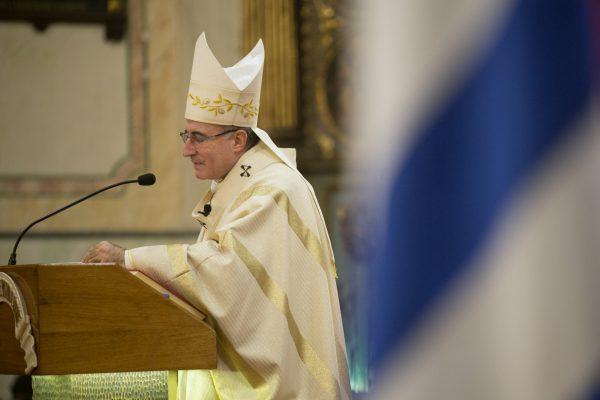 Homilía durante la misa / Fuente: Federico Gutiérrez