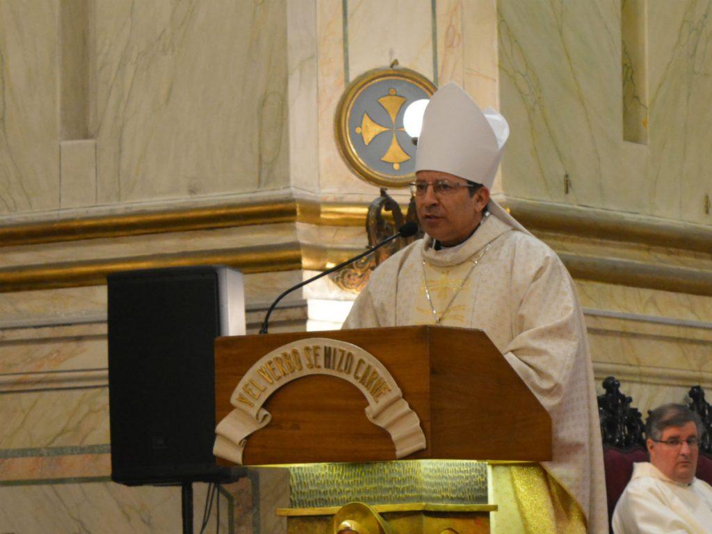 Mons. Luis Eduardo González durante la homilía /C. Bellocq