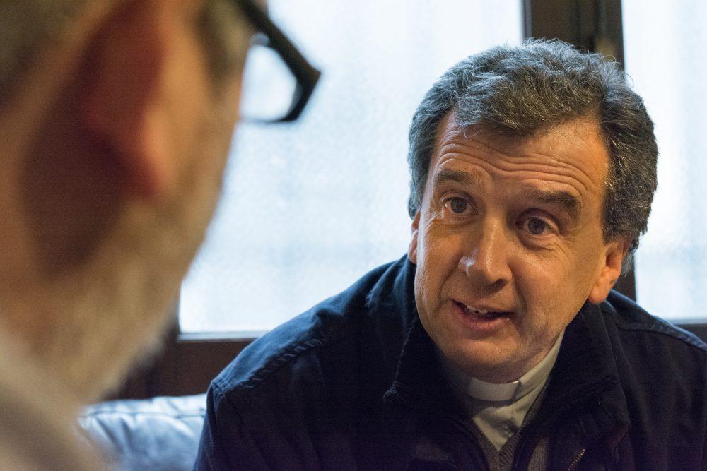 Mons. Pablo Jourdan durante la entrevista con Entre todos/ Fuente: Federico Gutiérrez