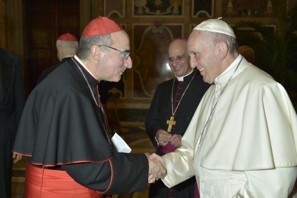Card. Sturla con el Papa Francisco/ Fuente: Vatican Media