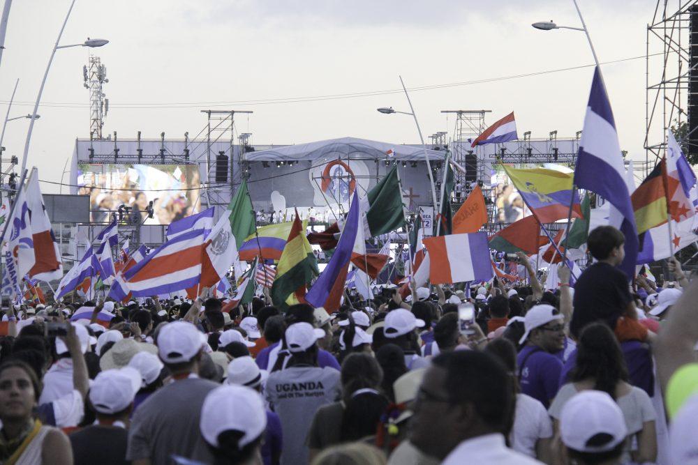 Panorámica Misa de Apertura - Campo Santa Maria La Antigua/ Fuente: Flickr, Panamá 2019- Agustin Bodet