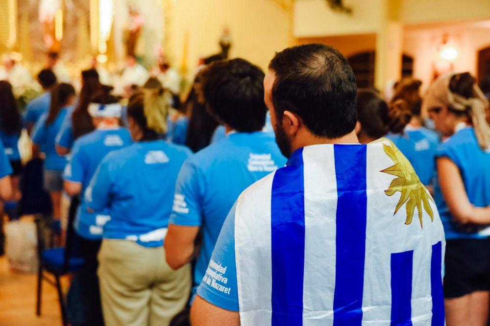 Misa de uruguayos durante la JMJ/ Fuente: Martín Freire