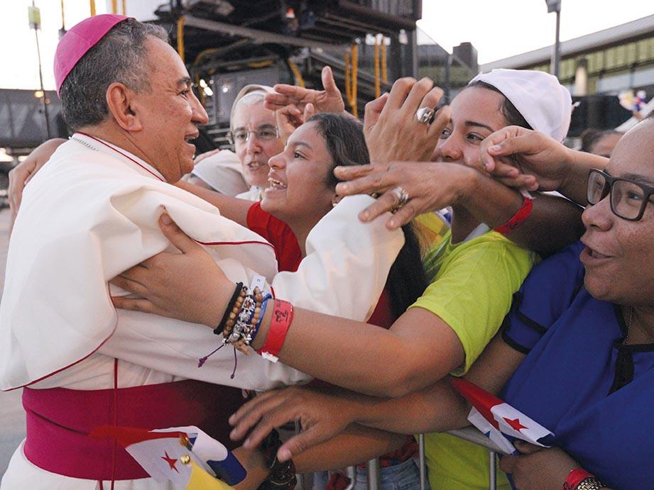 Mons. José Domingo Ulloa da gracias a Dios por cómo se desarrolló la JMJ. /FLICKR JMJ PANAMÁ 2019