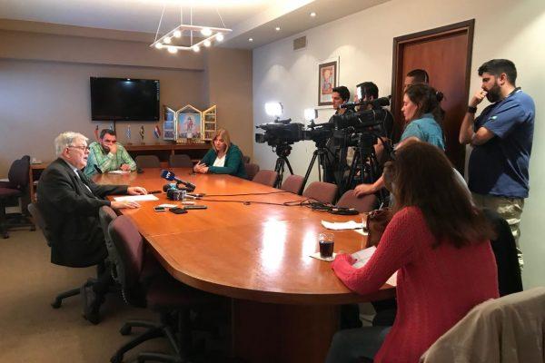 Conferencia de prensa de Mons. Carlos Collazzi/ Fuente: DECOS CEU