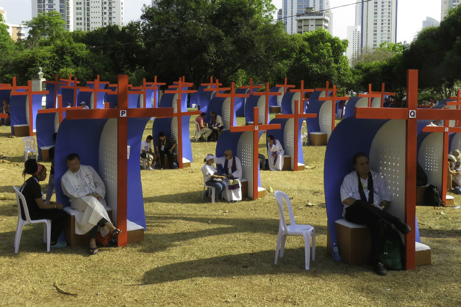 Miles de jóvenes se confesaron en el Parque del Perdón /M. Sinclair, Flickr Panamá 2019