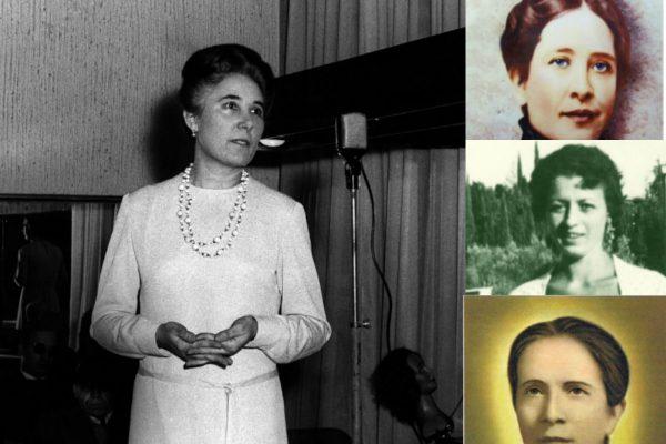 Guadalupe Ortiz de Landázuri, Conchita Cabrera, Benedetta Bianchi Porro y Edvige Carboni