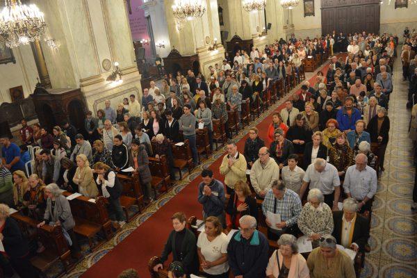 La Catedral Metropolitana durante la Misa de Domingo de Resurrección/ Fuente: Fabián Caffa