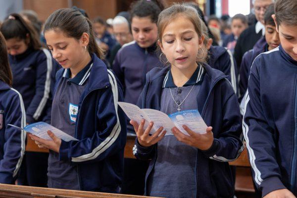Niños y adolescentes celebraron la Misa de inicio de cursos/ Fuente: Federico Gutiérrez