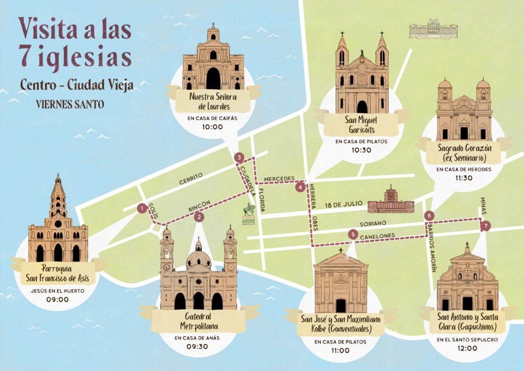 Recorrido por las 7 Iglesias en Montevideo (Ciudad Vieja - Centro)