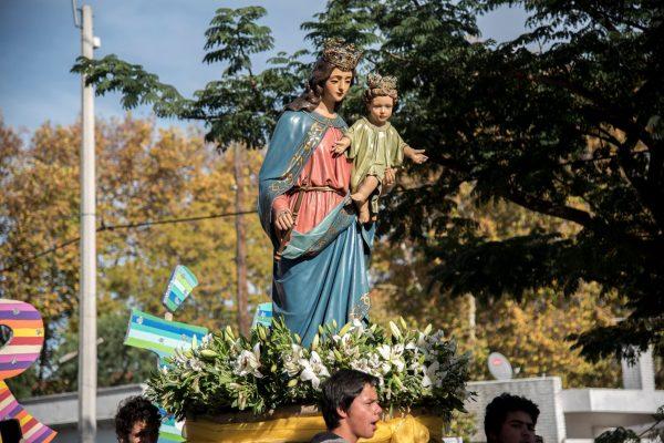 Procesión por Villa Colón /Facebook: Comunicación Salesiana - Uruguay